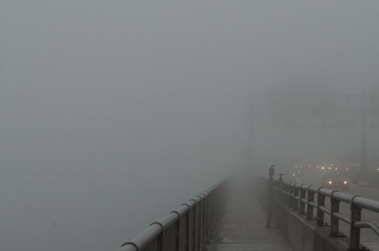 Approaching the George Washington Bridge