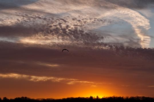 Sunset Over the Hudson - Saugerties Lighthouse