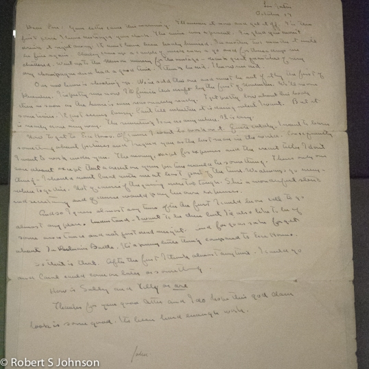 """Letter from John Steinbeck to Pare Lorentz describing his belief that the book is """"lousy"""""""