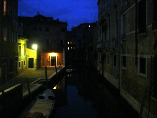 Nighttime on the canal