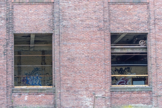 Some graffiti is still untouched