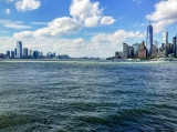 Looking up the Hudson from Governors Island