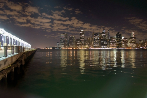 Manhattan Skyline - Night-Brooklyn Pier 5-2-2