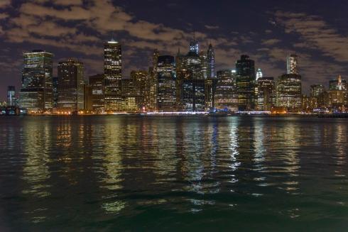 Manhattan Skyline - Night-Brooklyn Pier 5-2