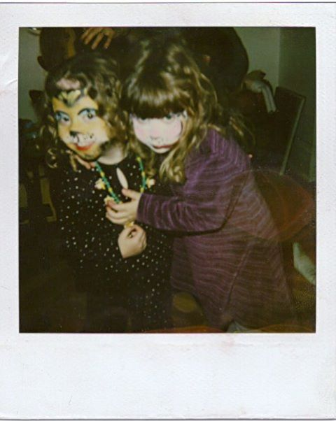 Abigail and Eva age 3 (I think). Face painting party