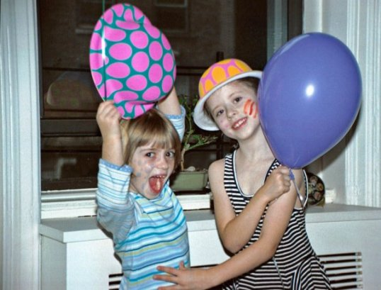 Edy and Abigail . Stripes and spots party age 5 (I think)